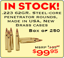 .223 Steel Core Penetrator Rounds