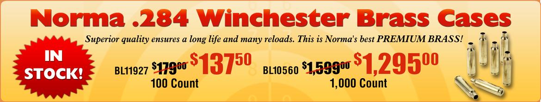 .284 Winchester Brass