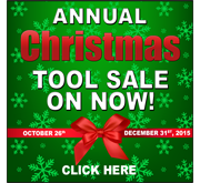 Annual Christmas Tool Sale On Now!
