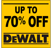 Up to 70% Off DeWalt