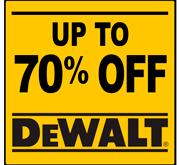 Up to 70% Off DeWalt