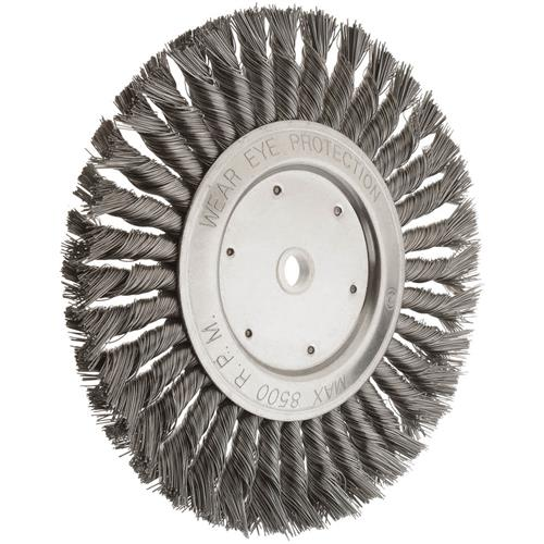 8 Quot Knotted Steel Wire Brush Wheel Grizzly Industrial