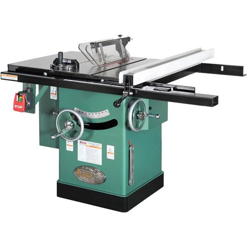 10 3 Hp 240v Cabinet Left Tilting Table Saw Grizzly Industrial