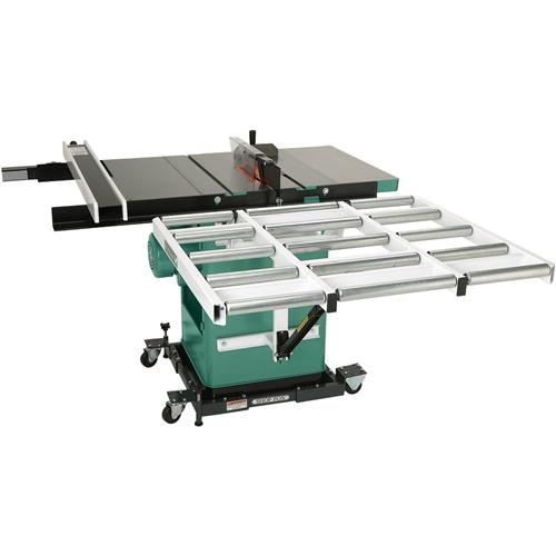 10 3 hp 240v cabinet left tilting table saw grizzly industrial 37 outfeed roller system for table saws keyboard keysfo Image collections