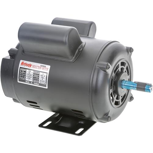 Motor 1 hp single phase 1725 rpm open 110v 220v grizzly for Single phase motor price