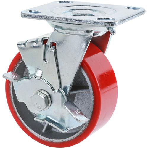 "Hand Caster For Sale: 5"" Heavy-Duty Swivel Caster W/ Brake"