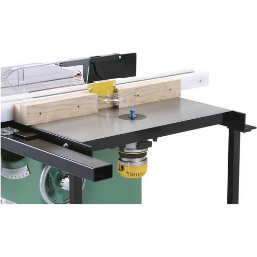 Router table with stand grizzly industrial 18 x 27 router extension table for table saw keyboard keysfo Choice Image