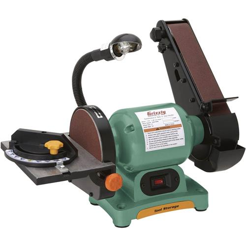 Combo 2 belt sander 6 disc sander grizzly industrial for 10 sanding disc for table saw