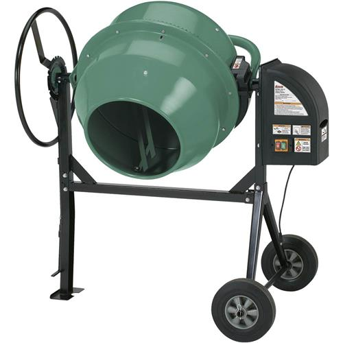 Portable Cement Mills : Gallon heavy duty cement mixer grizzly industrial