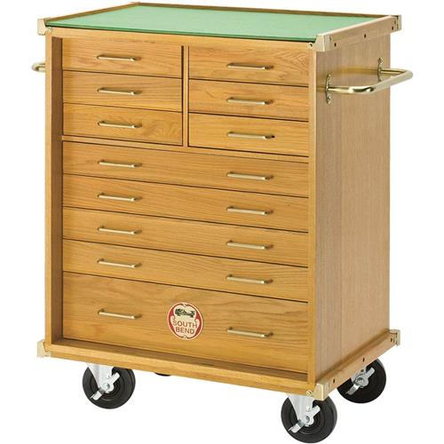 Oak Roller Cabinet 11 Drawer Grizzly Industrial