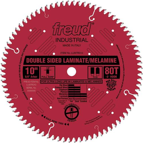 10 Quot 80t Double Sided Laminate Melamine Blade Grizzly